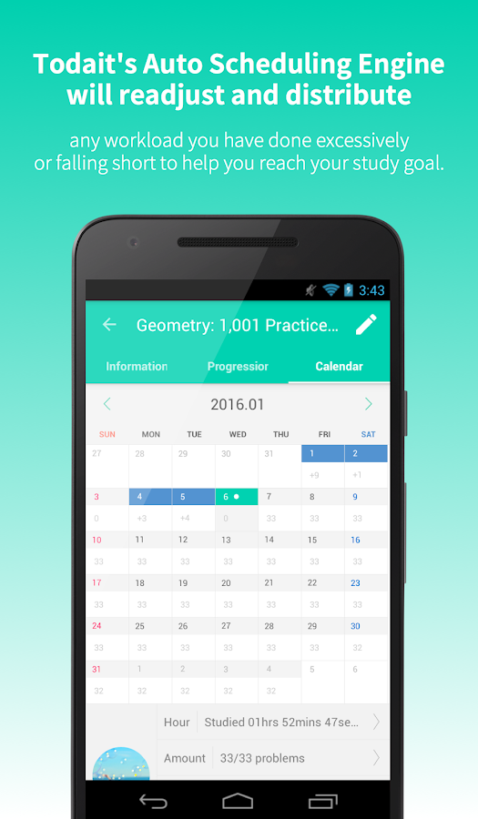 Todait - Smart study planner Screenshot 10