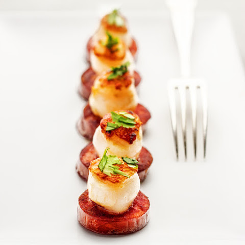 ... scallops mornay broiled crispy broiled scallops and chorizo recipe