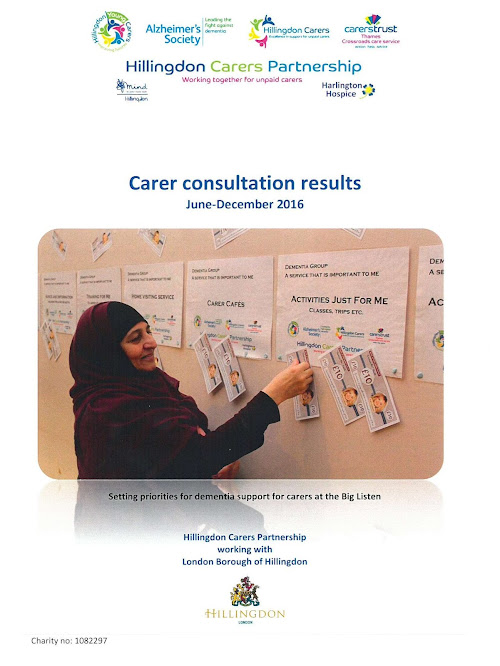 Carers consultation results