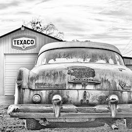 Talmo, Georgia by JEFFREY LORBER - Digital Art Places ( jeffrey lorber, cars, old cars, dodge, lorberphoto, carsgas station, texaco )