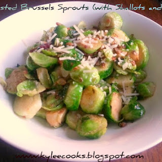 PAN ROASTED BRUSSELS SPROUTS WITH SHALLOTS AND BACON