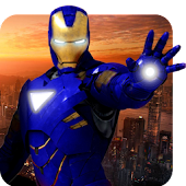 Grand Iron Superhero Flying Robot Rescue Mission