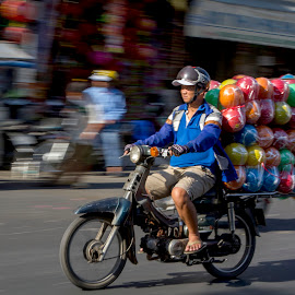 Transportation in Cholon HCM City Vietnam by Andre Minoretti - Transportation Motorcycles ( hochiminh city, streetphotography, street life, motorbike, cholon, vietnam, saigon )