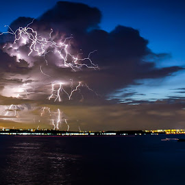 Lightning at Singapore by Lim Wei De - Landscapes Weather