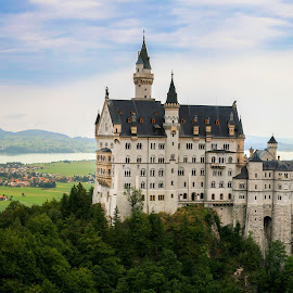 Neuschwanstein Castle by Sebastien Brenci - Novices Only Landscapes ( sky, blue, germany, forest, rock, castle, town, medieval, wall )