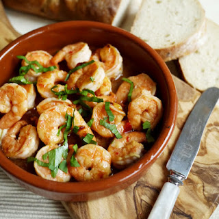 Pil Pil Prawns with Garlic and Chilli