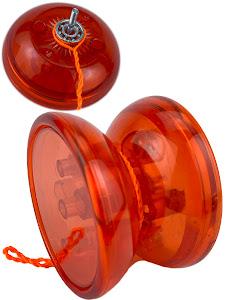 """Пружинка серии """"Город Игр"""" Йо-Йо светящийся, с подшипником, красный"""