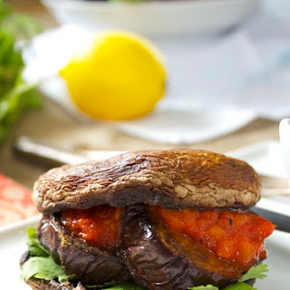 Portobello and Cumin Spiced Eggplant Burgers