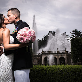 Longwood Gardens by Steven C. Bloom - Wedding Bride & Groom