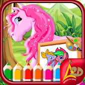 Little Pony Kids Coloring Book APK for Bluestacks