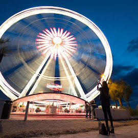 Spinning wheel of light - SooC - by Luca Foscili - Abstract Light Painting ( clouds, phone, model, fashion, wheel, cloudscape, photography, sky, light painting, girl, italia, nikon d800, d800, woman, outdoors, photographer, rimini, diamond wheel, luca foscili, heels, nikon, hair, light, italy )