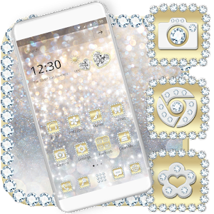 Luxury Gold & Silver Launcher Theme For PC