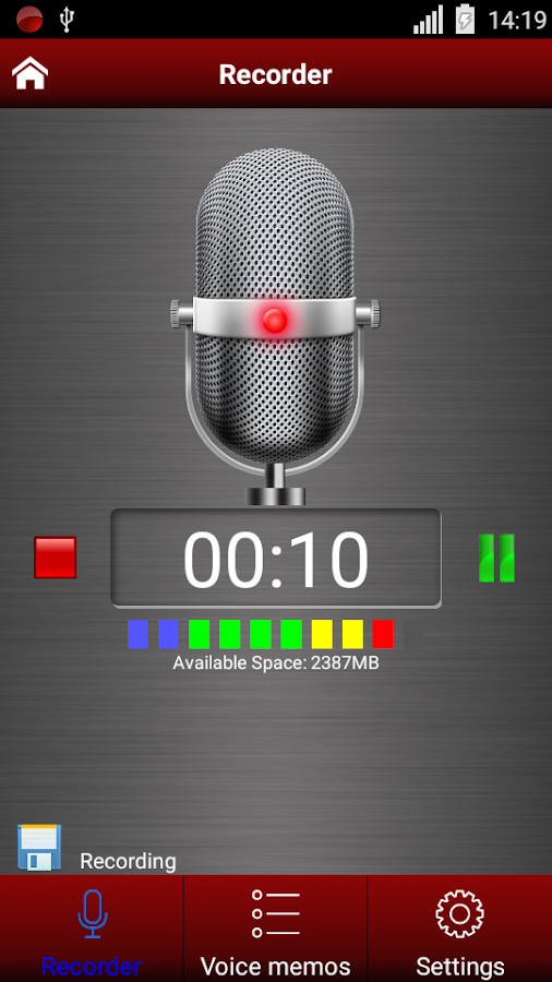 Voice recorder pro Screenshot 1