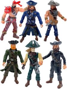 """Набор фигурок """"Пираты Рыжая борода, Роджер, Скелет, Уильям, Черная борода и Красная бандана"""""""