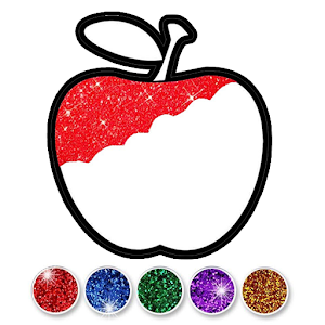 Glitter Fruits coloring and drawing for Kids For PC