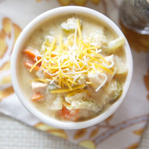 Cheesy Chicken Veggie Chowder