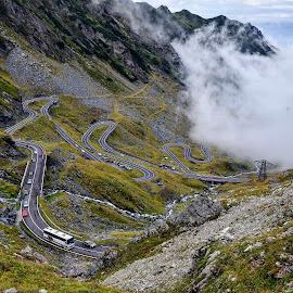 Transfagarasan / Romania by Cristian Gheorghe - Transportation Roads ( transfagarasan, romania, road )