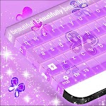 Purple Keyboard Girl Theme APK Image