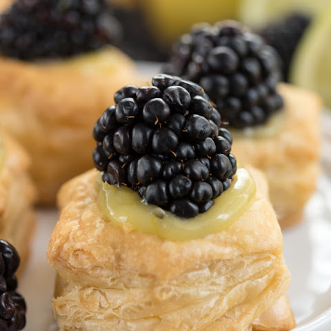 Blackberry Key Lime Tarts