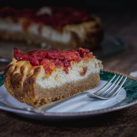 Cheese cake by Marius Radu - Food & Drink Candy & Dessert ( fork, fruits, cake, plate, desert, cheese )