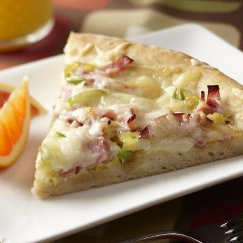 Ham and Swiss Breakfast Pizza