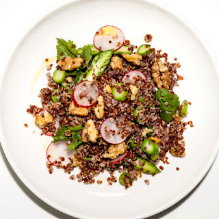 Asparagus and Red Quinoa Salad