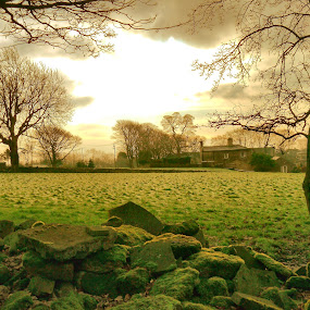 The Stone Pile by James Holdsworth - Landscapes Prairies, Meadows & Fields