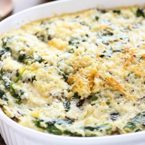 Spinach and Wild Rice Casserole