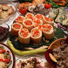 Chicken appetizers by Olga Peric - Food & Drink Meats & Cheeses ( dinner, chicken, cold, table, appetizers )