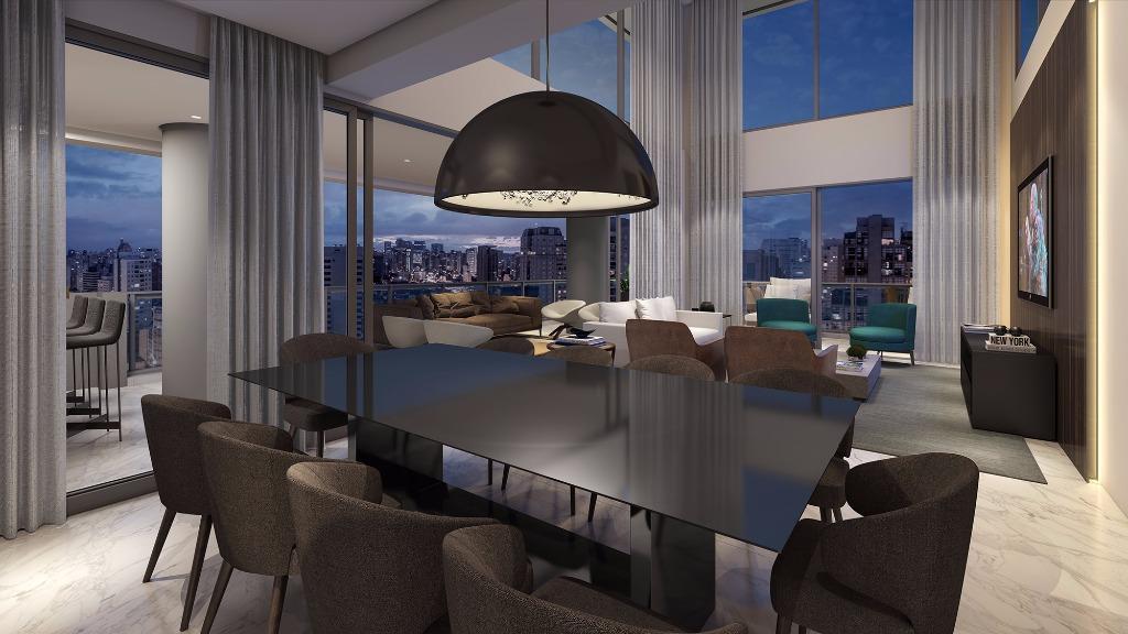 Perspectiva do Living - Cobertura Duplex - 374 m²