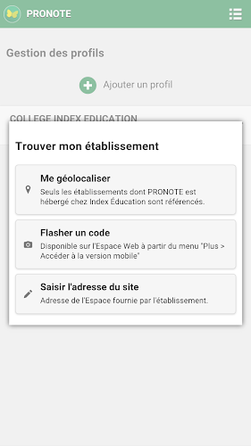 PRONOTE Android App Screenshot