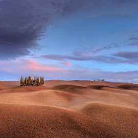 Tuscany by Ryszard Lomnicki - Landscapes Cloud Formations ( tuscany, pienza, italy )