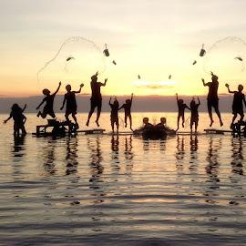 Sunset Joie de Vivre by Dickson   Shia - Babies & Children Children Candids ( sunset, action, kds )