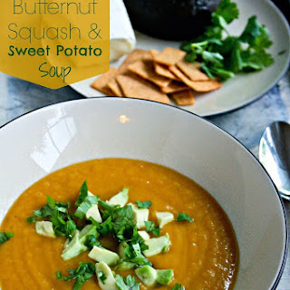 Slow Cooker Butternut Squash and Sweet Potato Soup