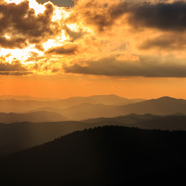Beautiful Evening by Rananjay Kumar - Landscapes Mountains & Hills ( #landscape, #orange, #hills, #outdoor, #color, #sunlight, #canon )