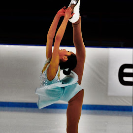 Figure Skater by Angelina Huang - Sports & Fitness Other Sports ( figure skating, female, ice )