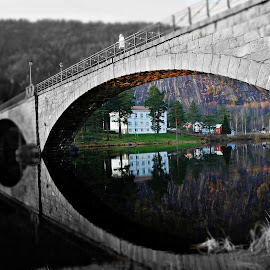 Woman on the bridge... by Roger Gulle Gullesen - Buildings & Architecture Bridges & Suspended Structures