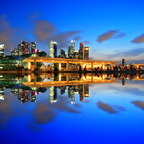 MBS Pool Reflection by Alit  Apriyana - City,  Street & Park  Vistas