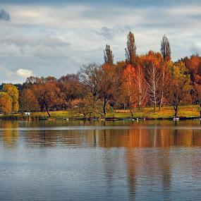 Good day by Lilian Iatco - Landscapes Forests ( ukraine, forest, lake, day, travel )