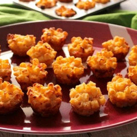 Ham and Macaroni and Cheese Appetizer Bites