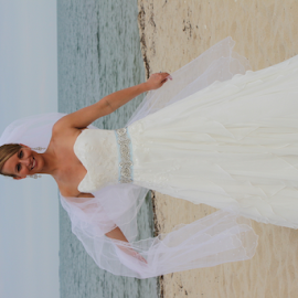 Caribbean Beach Bride by Donna Chapman-Domitrek - Wedding Bride ( beautiful, beach, bride, caribbean )