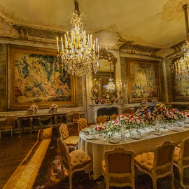 Waddesdon Manor,dinner room by Yordan Mihov - Buildings & Architecture Other Interior ( sony, dinner, waddesdon manor, trust, national )