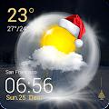 Christmas Weather Widget APK for Bluestacks