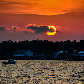 Last Sunday in June Sunset by Diane Davis - Landscapes Sunsets & Sunrises ( lagoon, sunset, beach )