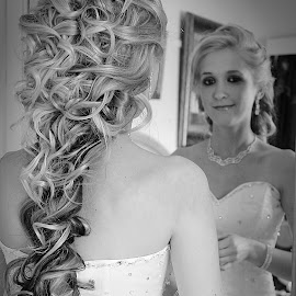 curly white by Rina Meintjes - Wedding Bride