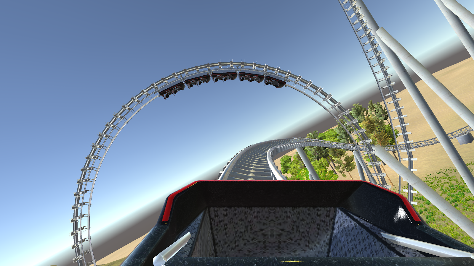 Cardboard VR 3D Roller Coaster Screenshot 1