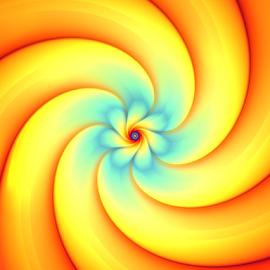 Little Flower by Cassy 67 - Illustration Abstract & Patterns ( swirl, wallpaper, spiral, sunlight, digital, sun, love, digital art, background, harmony, fractal, fractals, light, energy, flower )