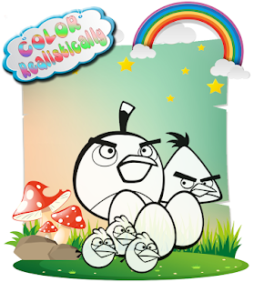 App How To color Angry birds kids coloring game APK for Windows Phone