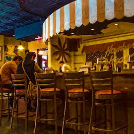 Hamburger Heaven by Sandy Friedkin - Digital Art Places ( dinners, counter, restaurant, stools )
