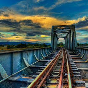 by Charliemagne Unggay - Transportation Trains ( bridge )